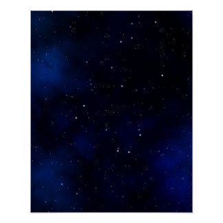 Dark Starry Night Sky Poster