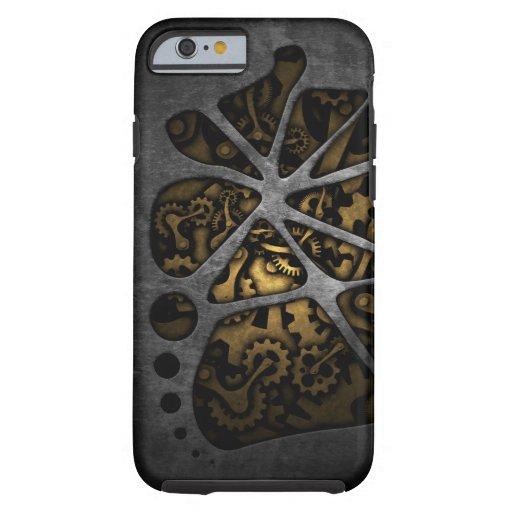 Dark steampunk cogwheel gears chassis iPhone 6 case