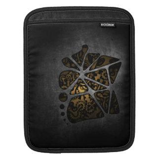 Dark steampunk cogwheel gears chassis iPad sleeves