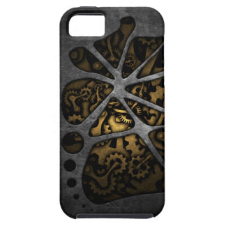 Dark steampunk cogwheel gears chassis iPhone 5 covers