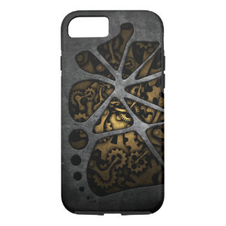Dark steampunk cogwheel gears chassis iPhone 7 case
