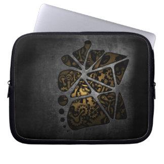 Dark steampunk cogwheel gears chassis laptop sleeve