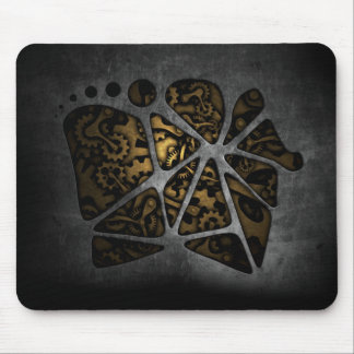 Dark steampunk cogwheel gears chassis mouse pad