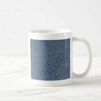 Dark Steel Blue Icy Crystals Coffee Mug