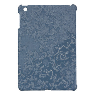 Dark Steel Blue Icy Crystals Cover For The iPad Mini