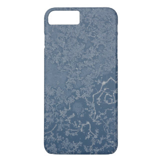Dark Steel Blue Icy Crystals iPhone 7 Plus Case