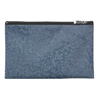 Dark Steel Blue Icy Crystals Travel Accessory Bag