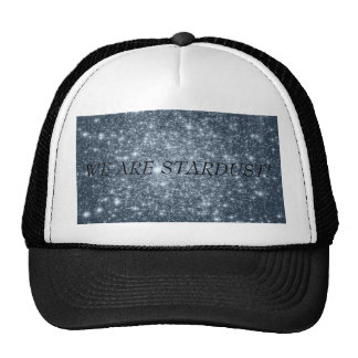 Dark Steel Blue Stars Trucker Hat