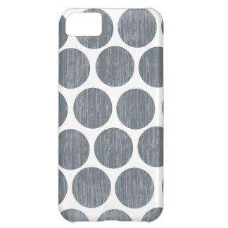 Dark Steel Gray Distressed Polka Dot iPhone iPhone 5C Cover