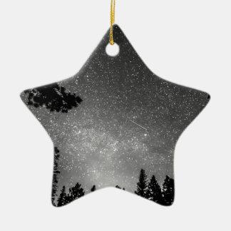 Dark Stellar Universe Double-Sided Star Ceramic Christmas Ornament