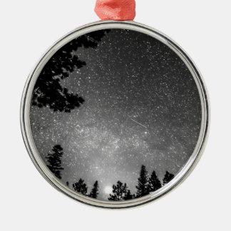 Dark Stellar Universe Round Metal Christmas Ornament