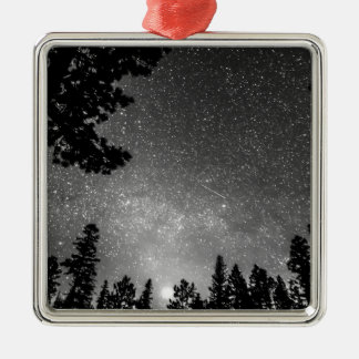 Dark Stellar Universe Square Metal Christmas Ornament