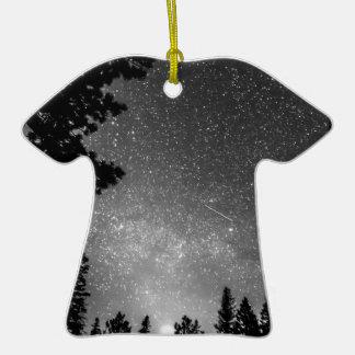 Dark Stellar Universe Double-Sided T-Shirt Ceramic Christmas Ornament