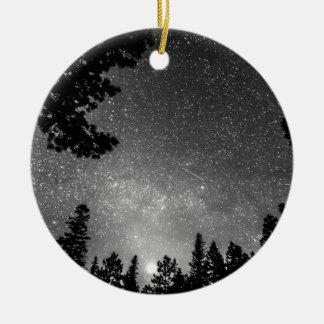 Dark Stellar Universe Double-Sided Ceramic Round Christmas Ornament
