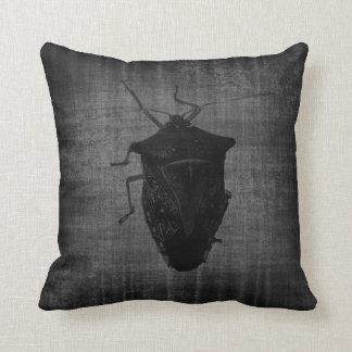 Dark Stink Bug Gothic Pillow