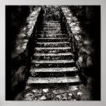 dark stone stairs print