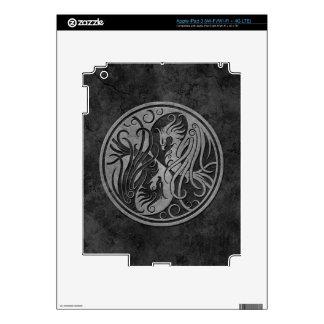 Dark Stone Yin Yang Phoenix iPad 3 Skins