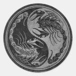 Dark Stone Yin Yang Scorpions Sticker