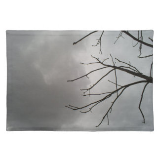 Dark Storm Clouds Cloth Placemat