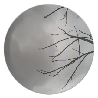 Dark Storm Clouds Dinner Plate