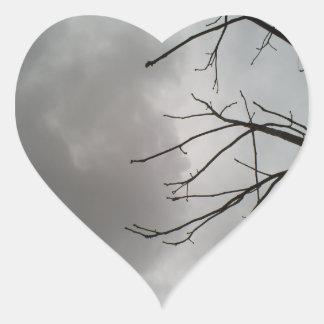 Dark Storm Clouds Heart Sticker
