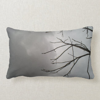 Dark Storm Clouds Lumbar Pillow