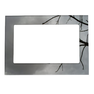 Dark Storm Clouds Magnetic Picture Frame
