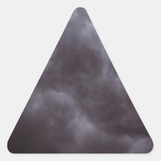 Dark Storm Clouds Triangle Sticker