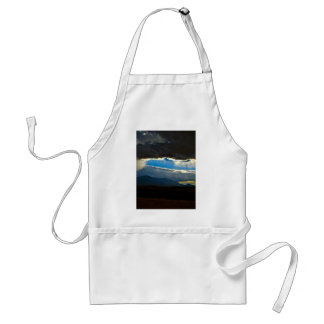 DARK STORM CLOUDS WITH SILVER LINING ADULT APRON