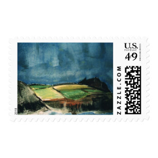 Dark Storm over Wales Postage
