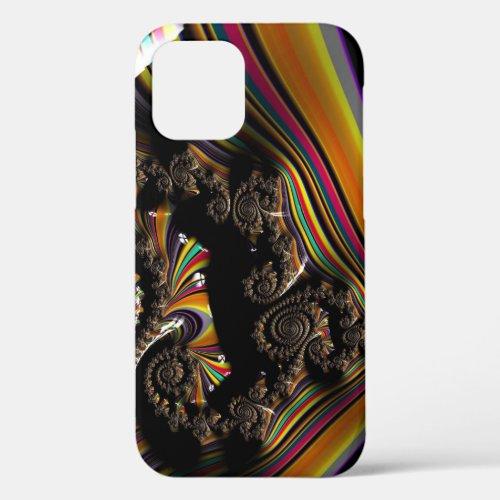 Dark Striped Spiral 3D Fractal Art Unisex Phone Case