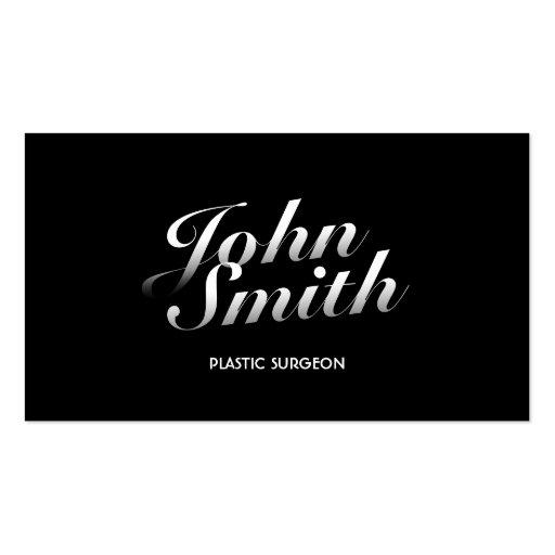 Dark Stylish Plastic Surgeon Business Card