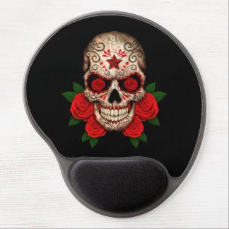 Dark Sugar Skull with Red Roses Gel Mouse Mat