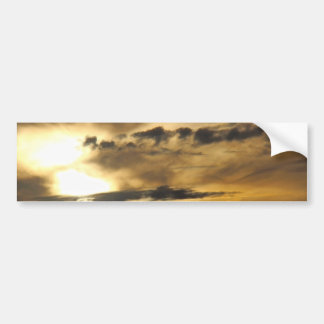 Dark sunset bumper sticker