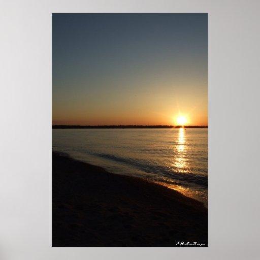 Dark Sunset by I.R. MacKenzie Poster