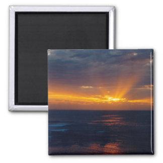 Dark Sunset Photo Refrigerator Magnets