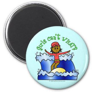 Dark Surfer Girl 2 Inch Round Magnet