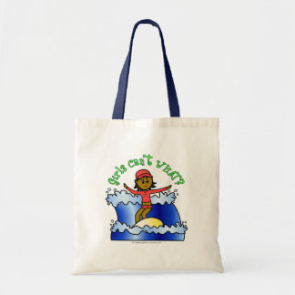 Dark Surfer Girl Budget Tote Bag