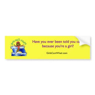 Dark Surfer Girl Car Bumper Sticker