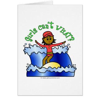Dark Surfer Girl Card