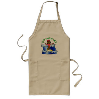 Dark Surfer Girl Long Apron