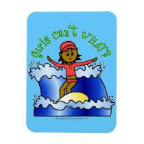 Dark Surfer Girl on Surfboard Magnet