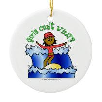 Dark Surfer Girl Ornaments