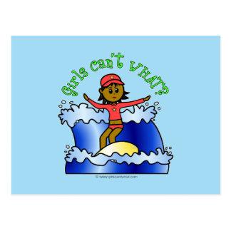 Dark Surfer Girl Postcard