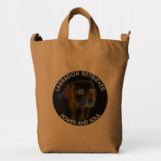 Dark Surreal Labrador Retriever Design Duck Bag
