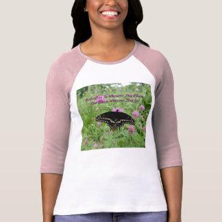 Dark Swallowtail Feeding On Clover T-Shirt