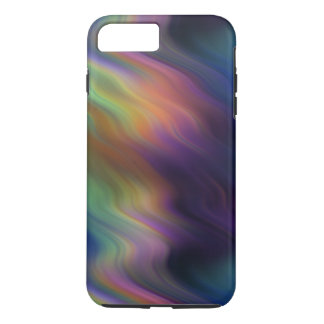 Dark Swirling Rainbow of Colors Abstract iPhone 7 Plus Case