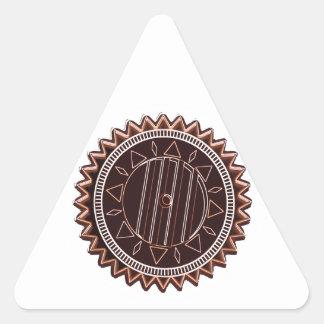 Dark Tan Chocolate Chip : CHAKRA Triangle Sticker