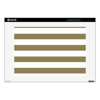 Dark Tan Horizontal Stripes; Striped Laptop Skins