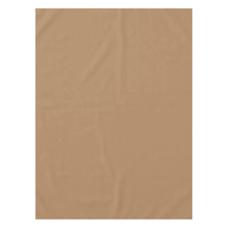 Beautiful DARK TAN (or Light Brown Solid Color) ~ Tablecloth